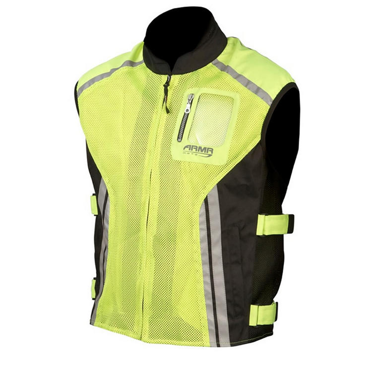ARMR Moto Reflective Motorcycle Over Vest
