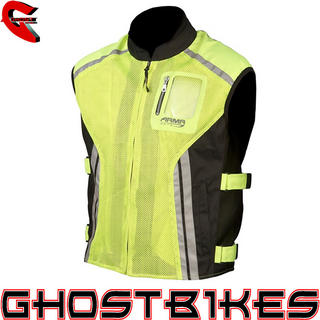 View Item ARMR Moto Reflective Motorcycle Over Vest