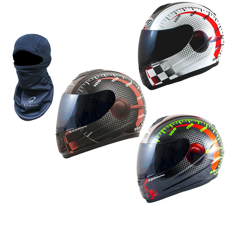 MT Thunder Lightning Max Power Motorcycle Helmet (Free Balaclava)