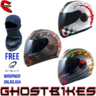 View Item MT Thunder Lightning Max Power Motorcycle Helmet (Free Balaclava)