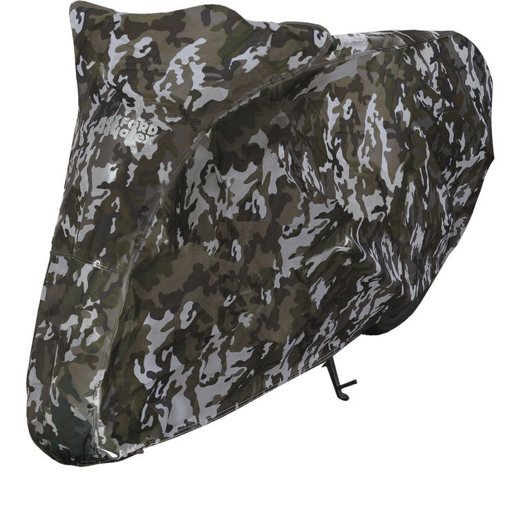 Oxford Aquatex Camo Large Motorcycle Cover (CV213)