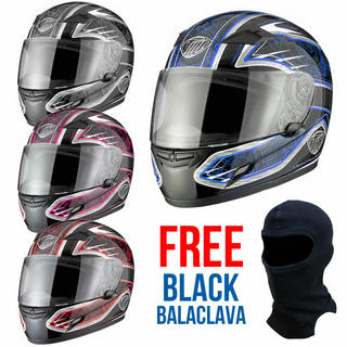 View Item THH TS-39 #8 Engine Full Face Helmet + FREE Balaclava