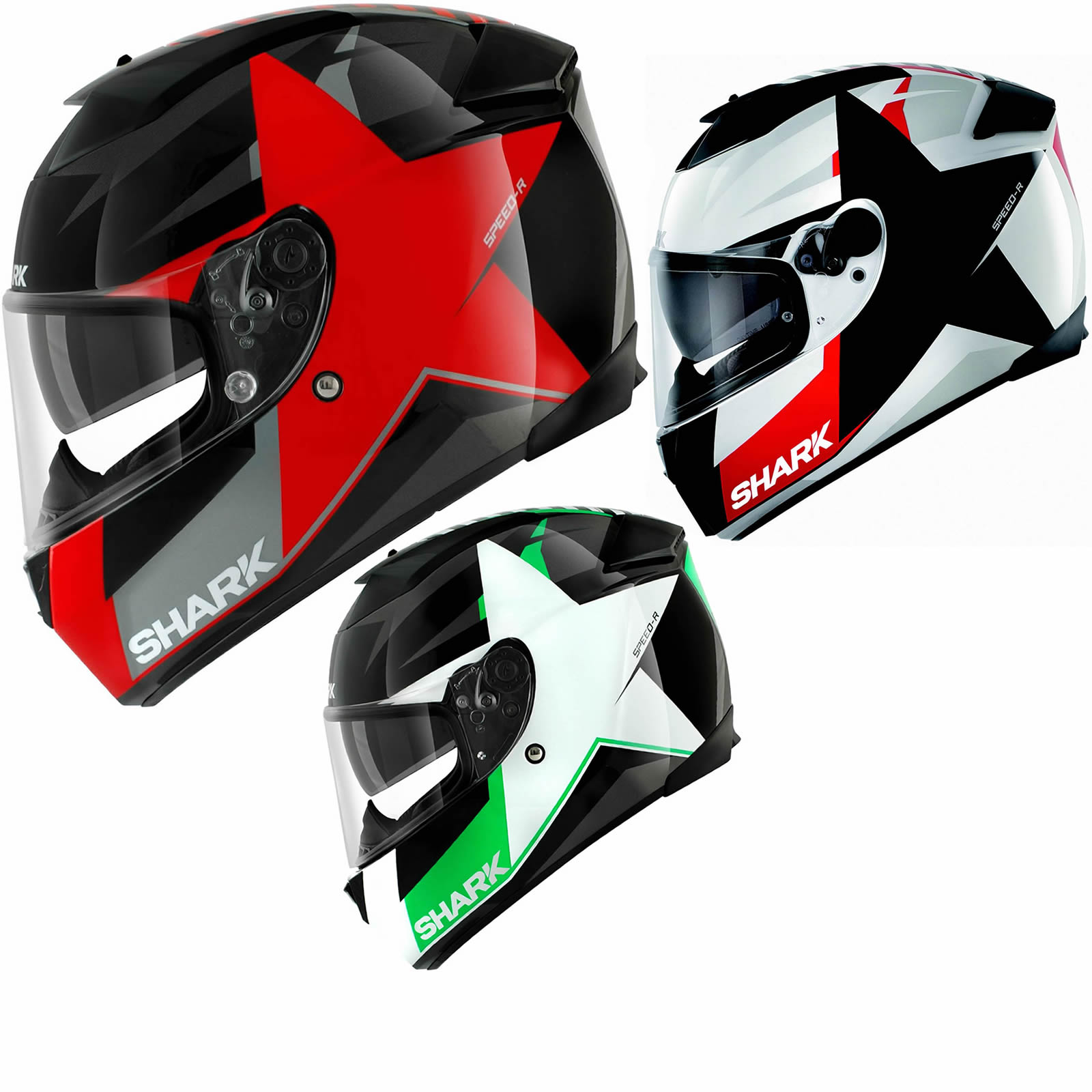 shark speed r texas star int gral acu or sport touring casque de moto scooter ebay. Black Bedroom Furniture Sets. Home Design Ideas