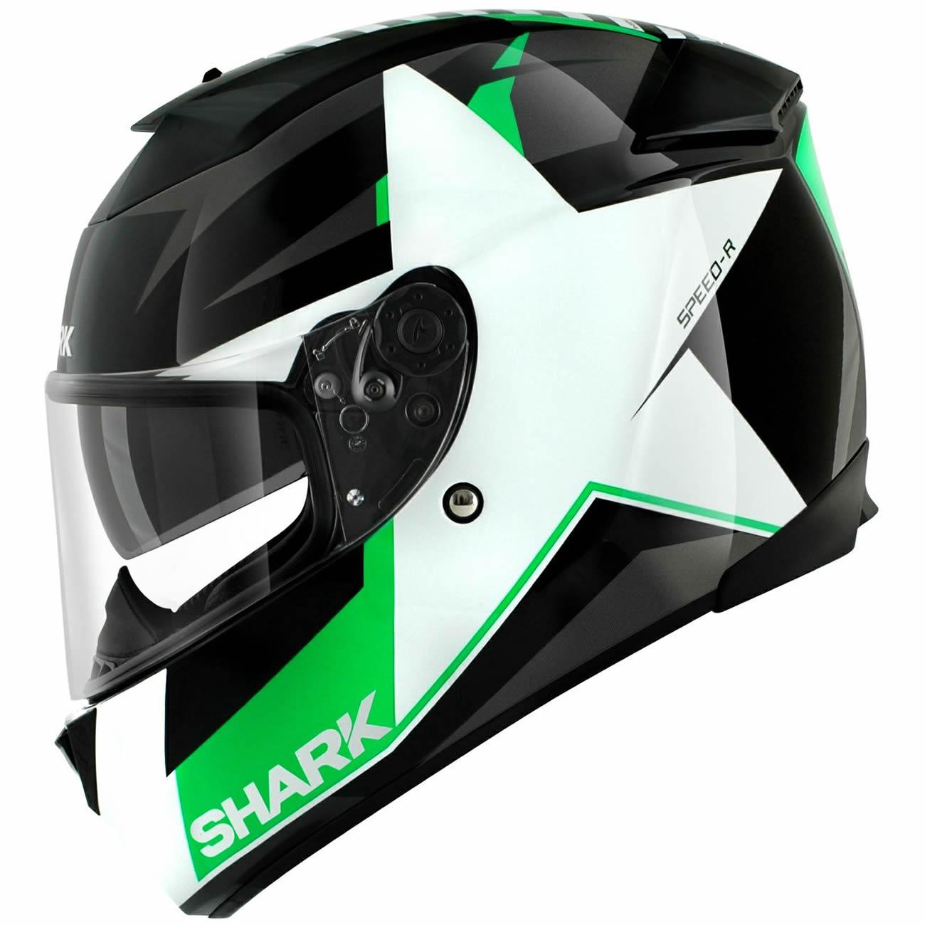 shark speed r texas black green motorcycle helmet track race racing acu gold ebay. Black Bedroom Furniture Sets. Home Design Ideas