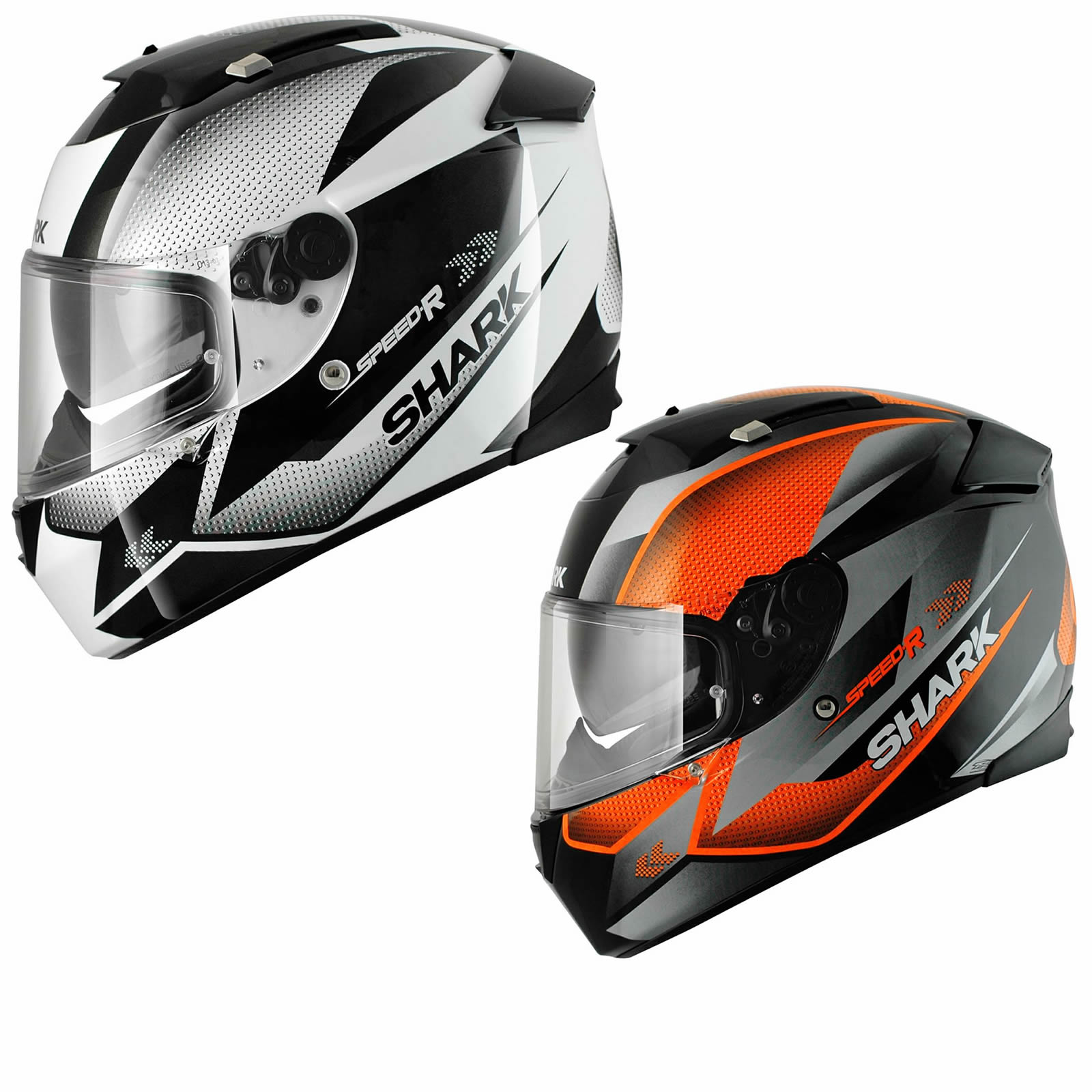SHARK SPEED-R TANKER FULL FACE ACU GOLD SPORTS TOURING ...