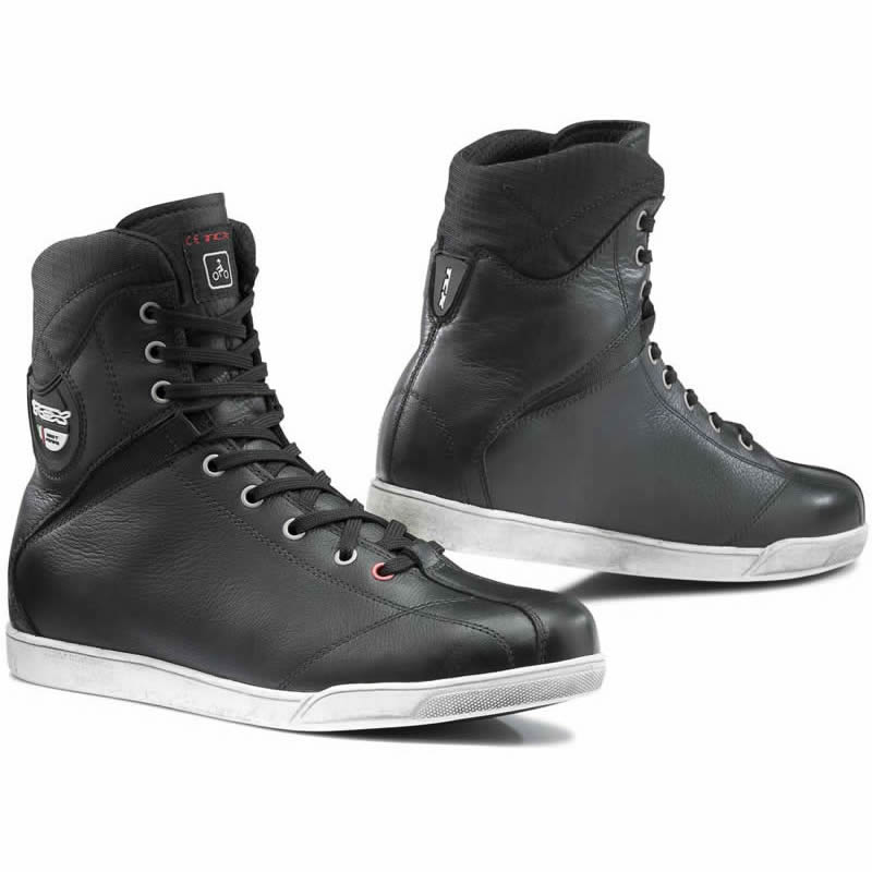 TCX X-RAP MENS WATERPROOF MOTORCYCLE RIDING SHOES BOOTS TRAINERS ALL BLACK Enlarged Preview