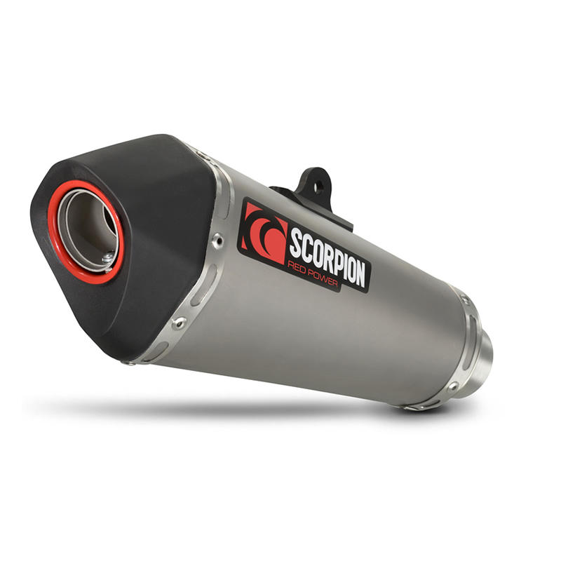 Scorpion Serket Taper Satin Titanium Oval Exhaust Triumph Street Triple/R 13-Current