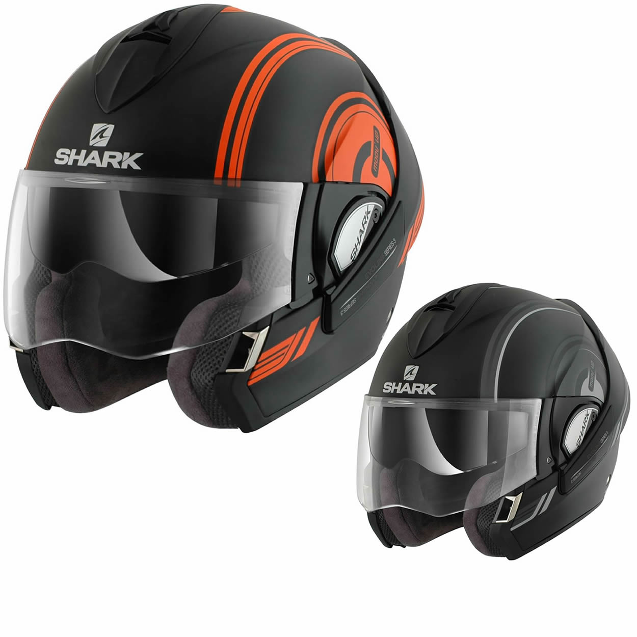 shark evoline series 3 moov up mat motorcycle helmet flip up front helmets. Black Bedroom Furniture Sets. Home Design Ideas