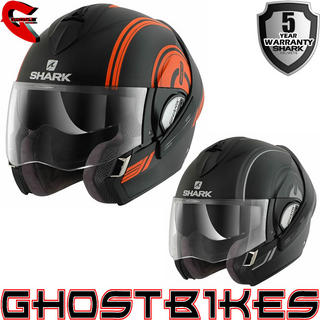 View Item Shark Evoline Series 3 Moov Up Mat Motorcycle Helmet