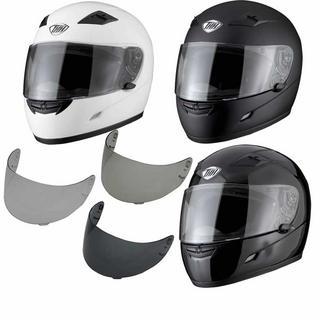 THH TS-39 Plain Full Face Helmet With Additional Visor