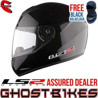 View Item LS2 FF351 Single Mono Motorcycle Helmet Black