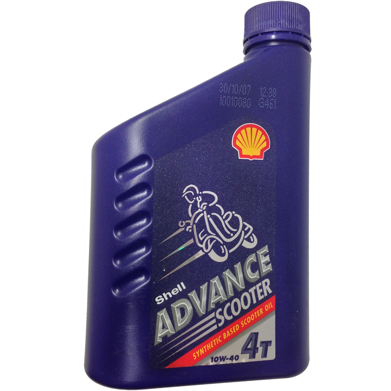 SHELL ADVANCE SCOOTER 4 STROKE MOTORCYCLE ENGINE OIL 1L Enlarged Preview