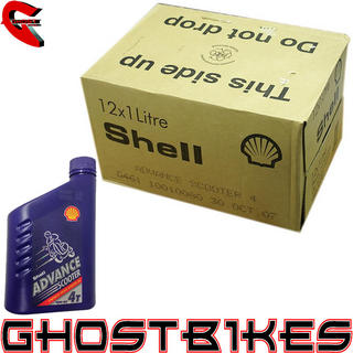 View Item SHELL ADVANCE SCOOTER MOPED ENGINE OIL 4 STROKE 10W40 MOTORCYCLE OIL 1 LITRE x12