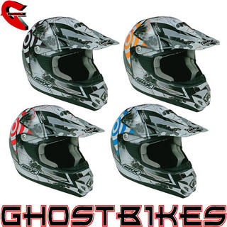 View Item Box MX-5 Target Motocross Helmet