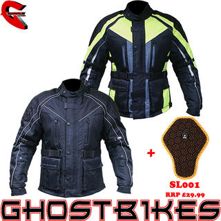 View Item Black Hazard Motorcycle Jacket and Back Protector Insert