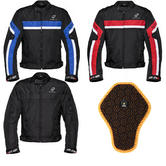 Black Argon Evo Motorcycle Jacket & FREE Back Protector