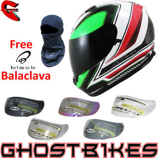 View Item MT Blade SV Mugello Motorcycle Helmet with Additional Visor & FREE Balaclava