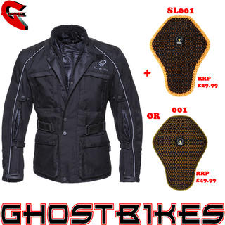 View Item Black Cool-It Motorcycle Jacket And Back Protector