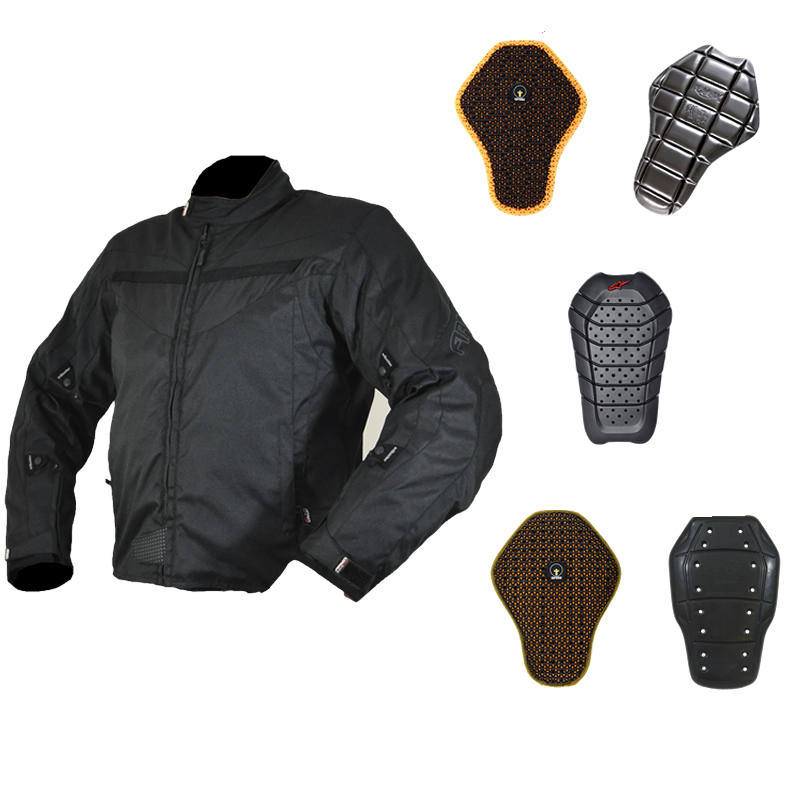 Armr Moto Miura Black Motorcycle Jacket And Back Protector