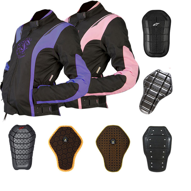 Armr Moto Jojo Ladies Motorcycle Jacket And Back Protector
