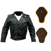 Spada Classic Cruiser Leather Motorcycle Jacket And Back Protector