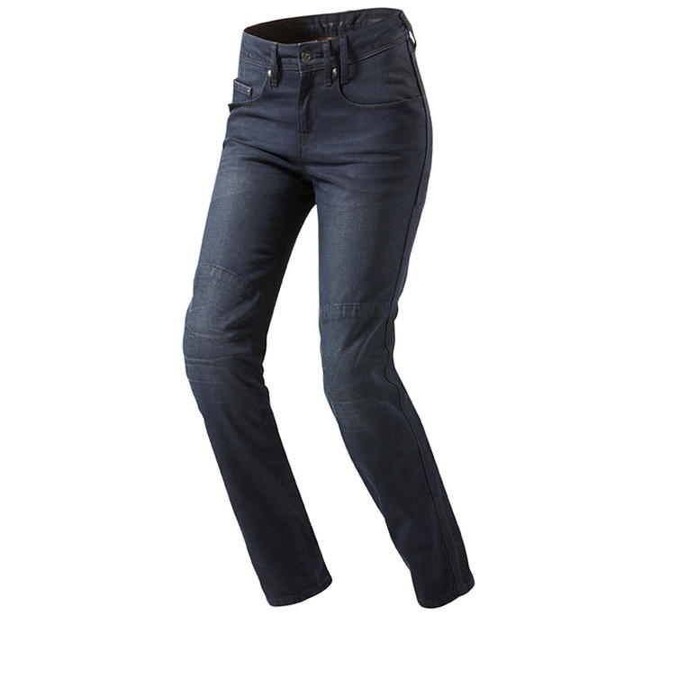 Rev It Broadway Ladies Solid Dark Blue Motorcycle Jeans