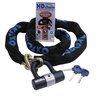 View Item Oxford HD Heavy Duty Motorbike 1m Chain &amp; Lock