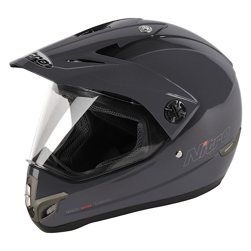 NITRO-MX630-FULL-FACE-DUAL-SPORT-PLAIN-MOTORCYCLE-MOTOCROSS-ENDURO-CRASH-HELMET