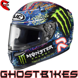 View Item HJC R-PHA 10 Plus  Lorenzo Graffiti Replica Motorcycle Helmet