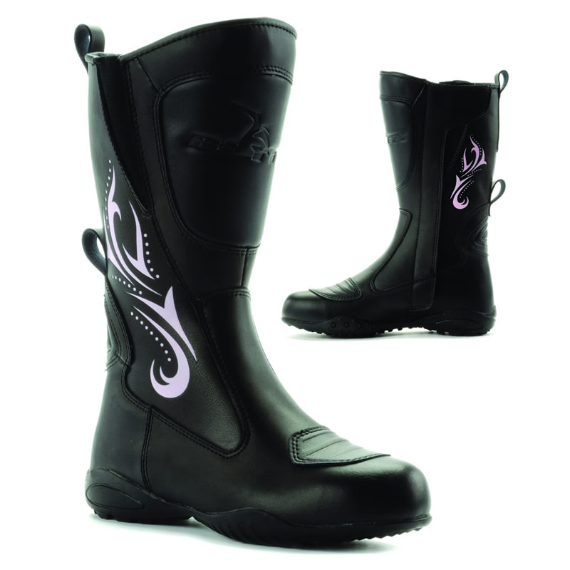 BLYTZ LADIES WATERPROOF LEATHER MOTORBIKE WOMENS MOTORCYCLE BOOTS ...