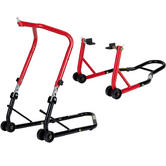 Black Pro Range Front Height Adjustable Head Stand & Rear Paddock Stand (B5065 and B5073)
