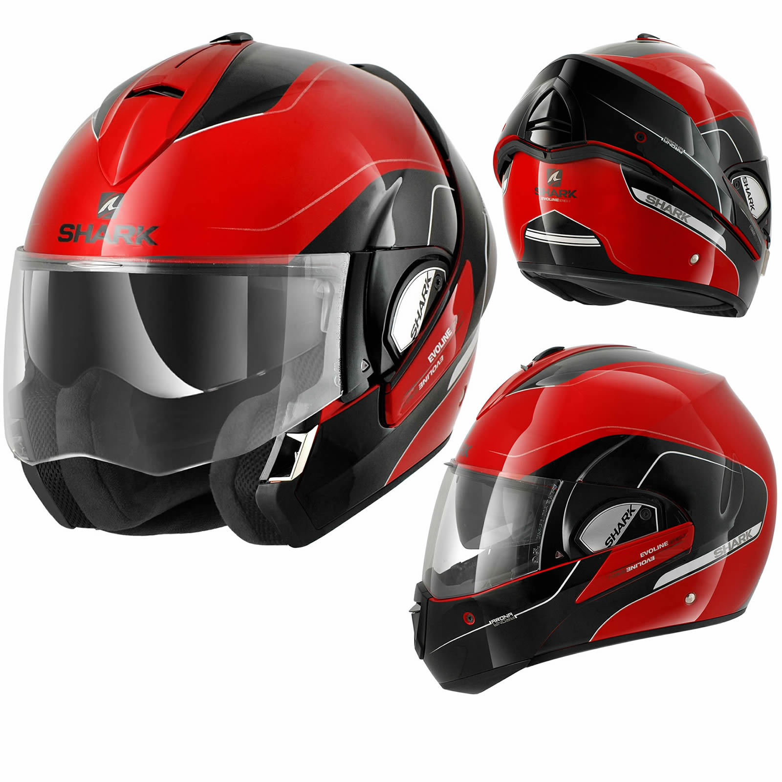 shark evoline series 3 arona flip up front full open face motorcycle helmet ebay. Black Bedroom Furniture Sets. Home Design Ideas