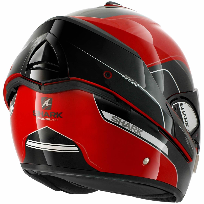 shark evoline series 3 arona red black motorcycle helmet flip up front rks ebay. Black Bedroom Furniture Sets. Home Design Ideas