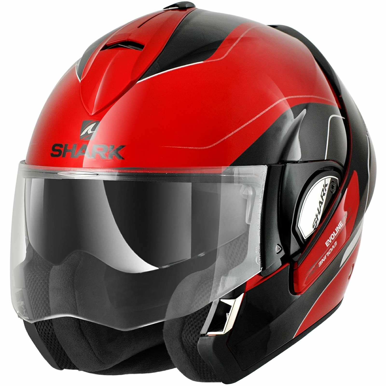 shark evoline series 3 arona klapphelm motorrad rot schwarz 57 58 cm m ebay. Black Bedroom Furniture Sets. Home Design Ideas