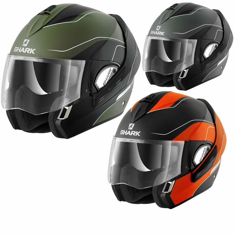 Shark Evoline Series 3 Moov Up Mat Motorcycle Helmet