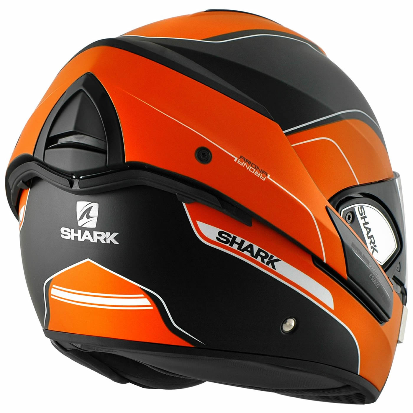 shark evoline series 3 arona matt orange black motorcycle helmet flip front kow ebay. Black Bedroom Furniture Sets. Home Design Ideas