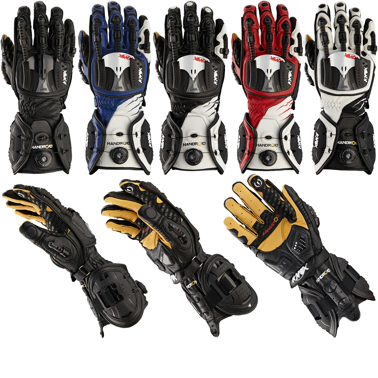 Motorcycle gloves ce approved - Knox Handroid Ce Approved Motorcycle Gloves