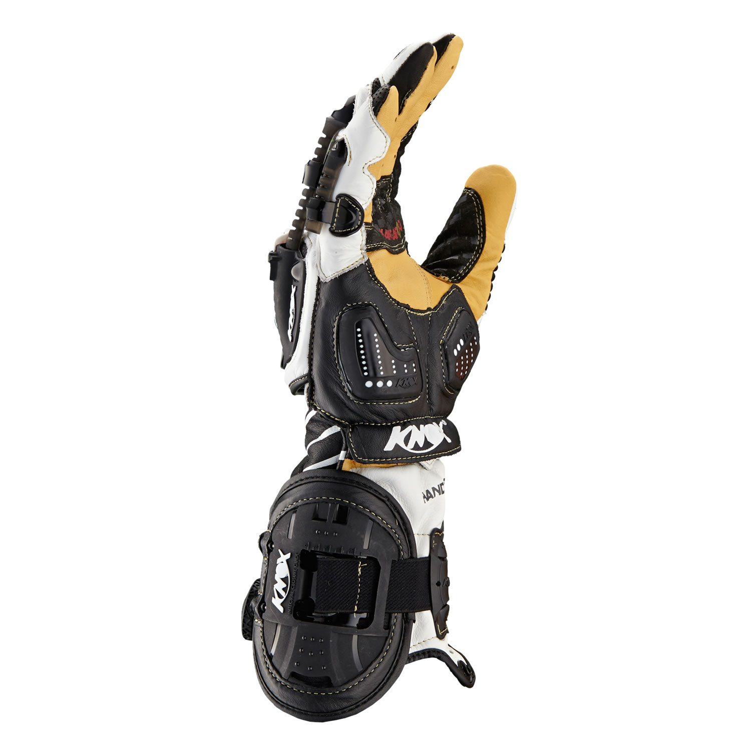 Motorcycle gloves exoskeleton - Knox Handroid Ce Approved Armoured Racing Sports Track