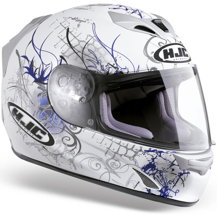 hjc fg 15 vol lez motorcycle crash helmet blue xl ebay. Black Bedroom Furniture Sets. Home Design Ideas