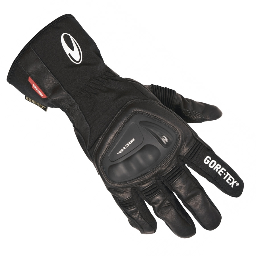 Motorcycle Gloves Touring - Richa hurricane gore tex motorcycle leather gloves waterproof