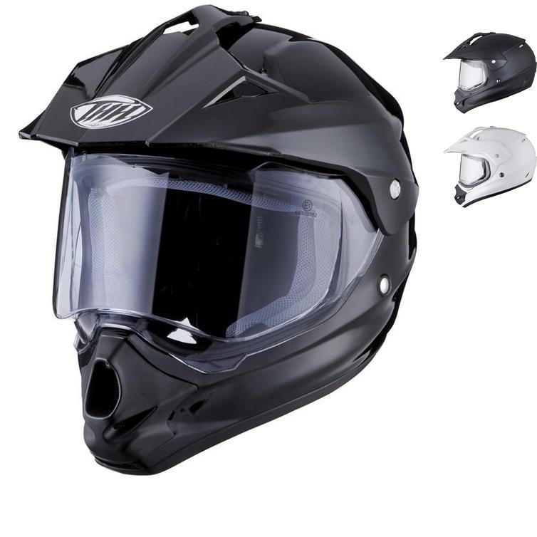 THH TX-13 Plain Dual Sport Motocross Helmet