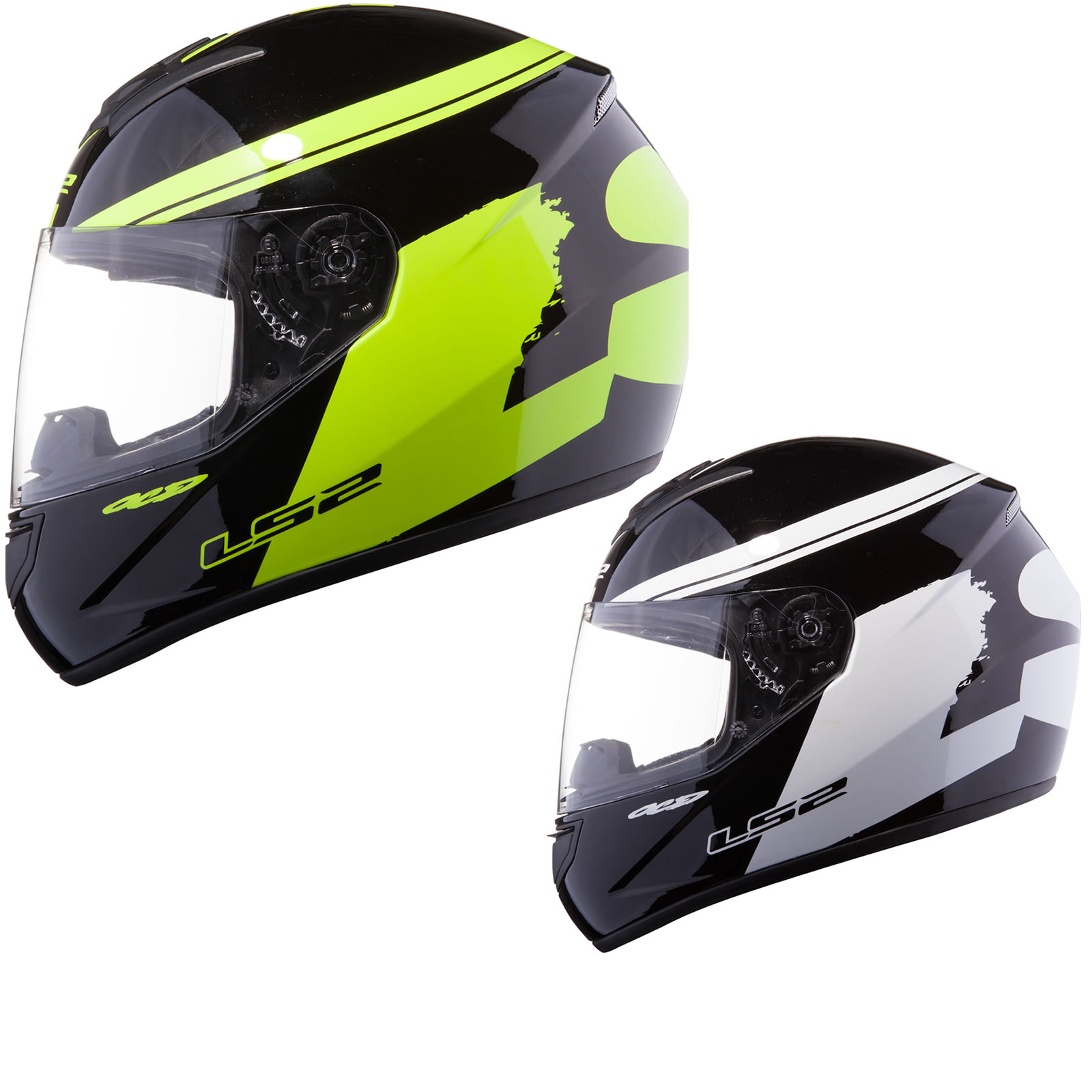 ls2 fluo casque moto scooter int gral course sport piste pro ebay. Black Bedroom Furniture Sets. Home Design Ideas