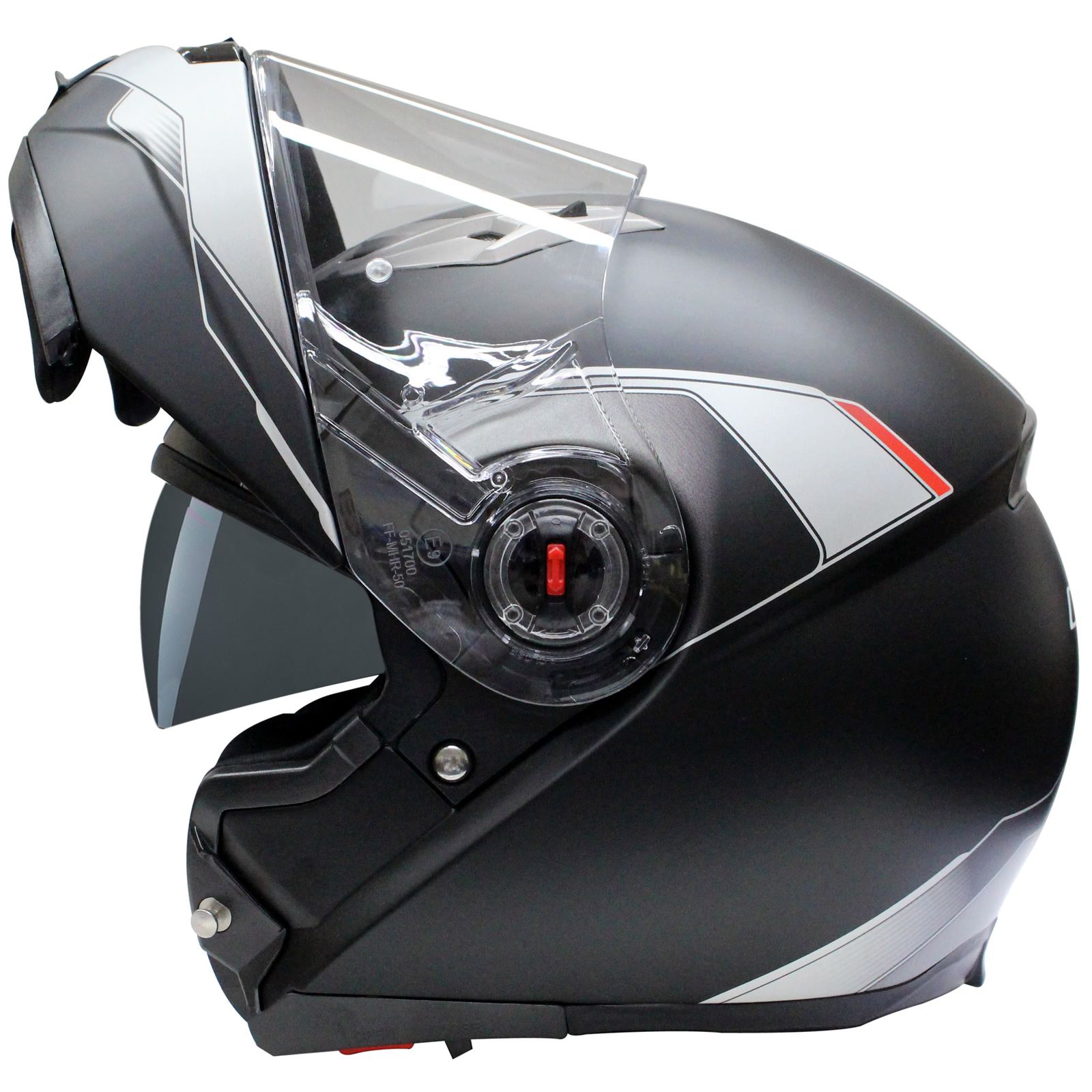 LS2 FF370.2 Shadow Black Motorcycle Helmet Flip Up Front ...
