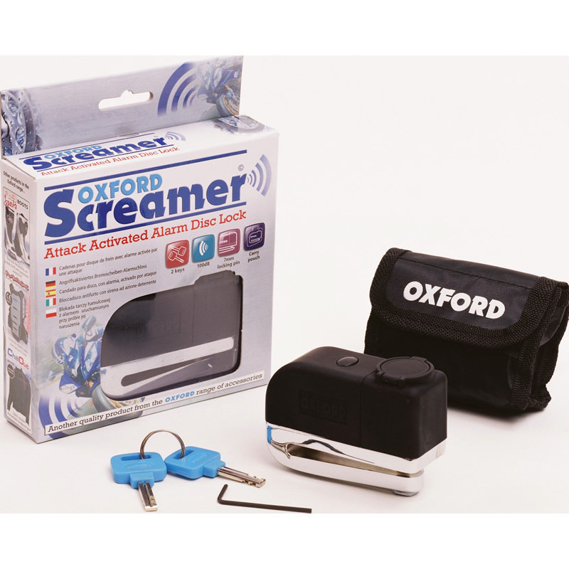 View Item Oxford Screamer Alarmed Disc Lock