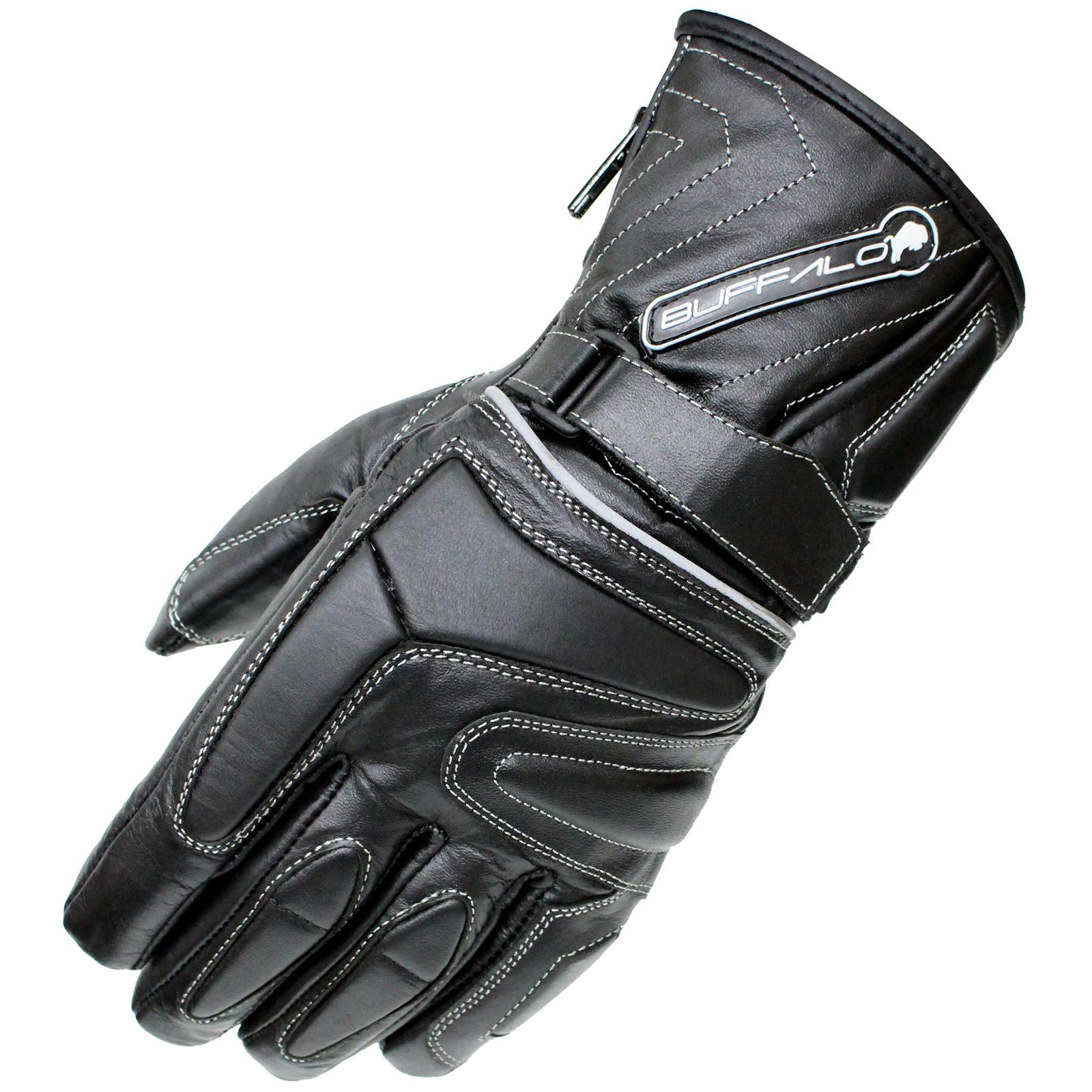 Motorcycle leather gloves waterproof - Buffalo Arctic Waterproof Wp Thermal Leather Motorcycle Scooter