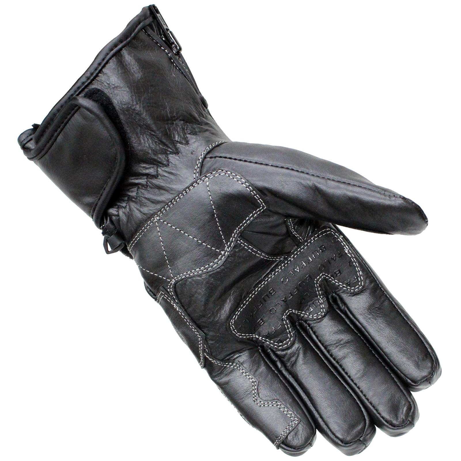 Motorcycle leather gloves waterproof -  Waterproof Wp Thermal Leather Motorcycle Scooter Winter Gloves Preview 5 Thumbnail 1 Thumbnail 2 Thumbnail 3 Thumbnail 4