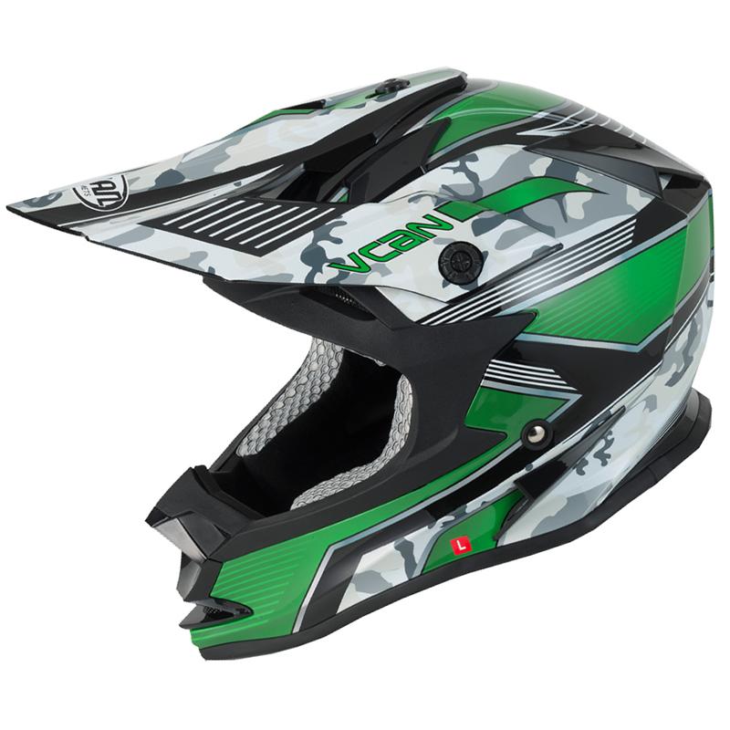 Vcan-V321-Force-Green-Motocross-Helmet-MX-ACU-Moto-X-Enduro-Military ...