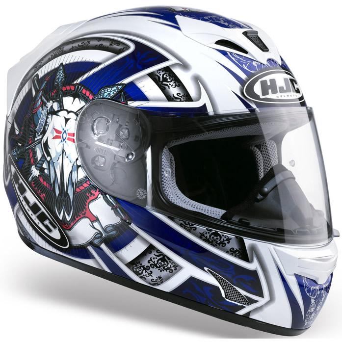 hjc fg 15 kynee motorcycle crash helmet blue xl ebay. Black Bedroom Furniture Sets. Home Design Ideas