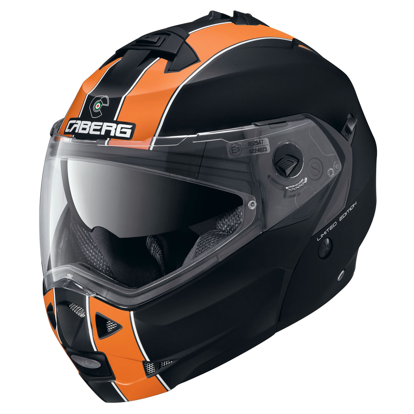 Caberg Duke Legend Matt Black Orange Motorcycle Helmet ...