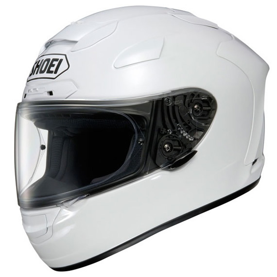 shoei x spirit ii solid plain white motorcycle helmet xspirit 2 acu race bike. Black Bedroom Furniture Sets. Home Design Ideas